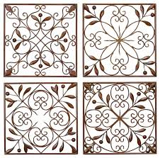 metal wall decor set of 4 a low priced wall decor on 4 piece metal wall decor with metal wall decor set of 4 a low priced wall decor traditional