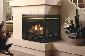 2 sided corner fireplace insert