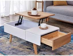 lift top storage wooden coffee table