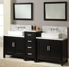 White Double Bathroom Vanities Bathroom Design Black And Brown Bathroom Vanity With Black Wall