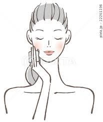 女性 顔 コットンのイラスト素材 22261196 Pixta