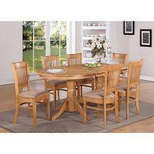 east west furniture vanc7 oak c vancouver 7 piece oval double from gorgeous oval shape dining