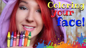 asmr color your face personal attention crayons visual triggers