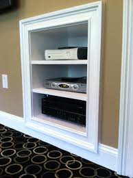 Built In Drywall Shelves Recessed Cabinet Into Wall Flush Google Search Tamarack
