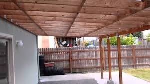How To Build A Freestanding Patio Cover Blueprints For Covers Stand