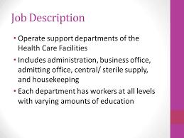 Jobs In Hospital Health Care Facility Service Job Description