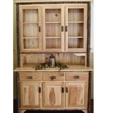 hutch kitchen furniture. 3 Door Hickory Hutch With Glass Doors Kitchen Furniture