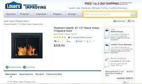 vent free gas fireplace fireplace doors vent free gas fireplace