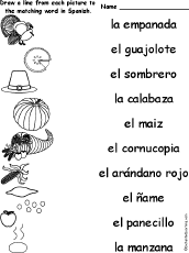 Small Picture Spanish Language Activities at EnchantedLearningcom