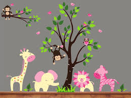 baby jungle wall decals