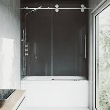 this review is from elan 60 in x 66 in frameless sliding tub door in chrome with clear glass