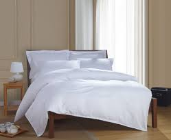 pretentious design white hotel comforter set bedspread cotton simple satin strip bedding sets linen duvet cover from home