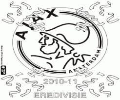 Kleurplaten Voetbal Logo Ajax