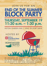 neighborhood block party bbq picnic summer x invite block party invitation for homewood suites and hilton garden inn