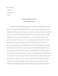 essay on the most dangerous game the most dangerous game essay dissertation help co uk review