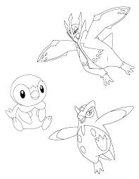 Pokemon Paradijs Kleurplaat Empoleon Piplup En Prinplup