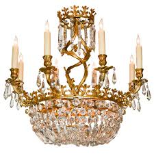 early 20th century french rococo bronze and crystal chandelier at 1stdibs
