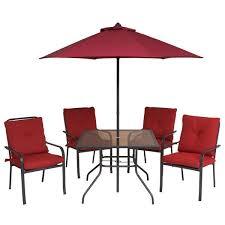 outsunny 6pcs sling folding patio