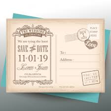 vintage postcard for a wedding invitation vector free download Wedding Invitation Postcard Vector vintage postcard for a wedding invitation free vector vector and psd - wedding invitation postcard