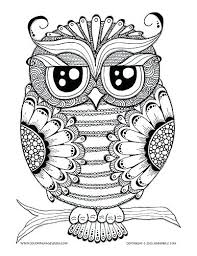 Owl Coloring Pages Pdf Of Owls Book Acnee