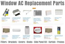 window ac replacement parts filter brackets covers knobs side panel kit