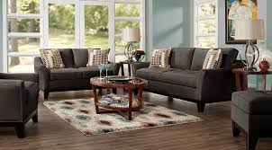 dark gray living room furniture.  Dark Cindy Crawford Living Room Set Living Room Set With Dark  Gray Sofa Loveseat And Chair With Dark Gray Furniture