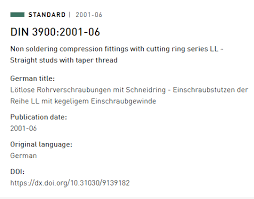 Hydraulic Fitting Chart Pdf Din 3900 Pdf Standard Chart Knowledge Yuyao Jiayuan