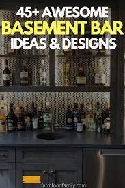 45 modern finished basement bar ideas