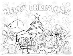 Spongebob Christmas Coloring Pages Free Coloring Sheets