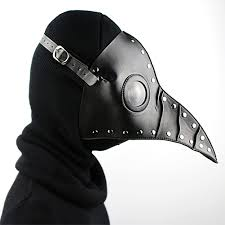 party mask pe doctor cosplay steampunk pu leather mask black