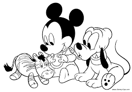 Small Picture Printable 30 Baby Mickey Mouse Coloring Pages 5704 Baby Mickey