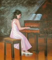 image little princess playing the piano