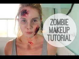 zombie makeup tutorial how to do the walking dead style zombie makeup big little world you