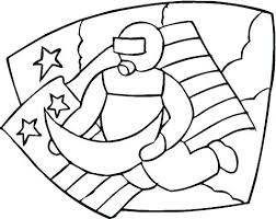 American Flag Coloring Page For First Grade Flag Coloring Page S A