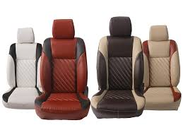 picture of custom fit leatherette 3d car seat covers for honda new jazz 2016