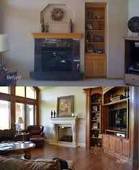 7 most successful ideas for floor to ceiling brick fireplace makeover to update your space lindabrownell