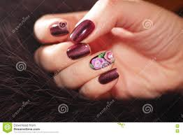 Pretty Nail Designs And Colors Beautiful Nail Designs Stock Image Image Of Flowers 81607987