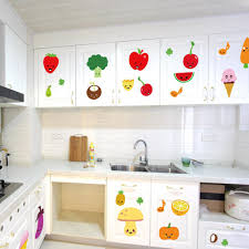 Kitchen Wall Mural Cute Cartoon Fruits Wall Art Mural Decor Kitchen Wall Decoration