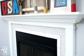 white tiled fireplace white tile