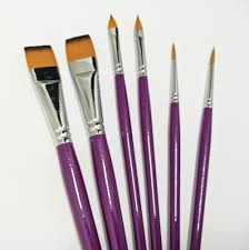gold grip excellent spring back synthetic nylon face paint brushes set for face painting