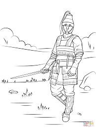 Small Picture Celtic Armored Warrior coloring page Free Printable Coloring Pages