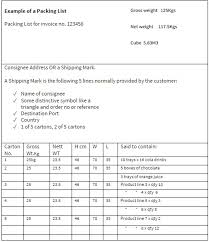 Sample Packing Slip Form Packing List Template The Institute Of Export And
