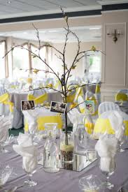 133 best yellow and gray wedding images on pinterest marriage Wedding Decorations Yellow And Gray diy wedding centerpiece, branches, pictures, and crepe paper flower buds, yellow & gray wedding wedding decorations yellow and gray