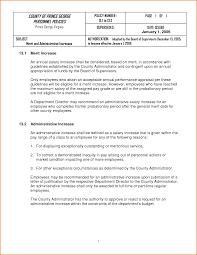 Merit Increase Letter Template