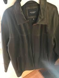sonoma mens extra large leather coat