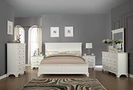 white bedroom furniture sets. Delighful Bedroom Roundhill Furniture White Bedroom Set Includes Bed Dresser Mirror  2 Night Stands And Chest Throughout Sets