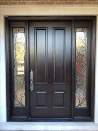 glass door panels for exterior door home design