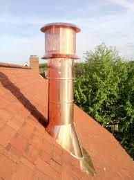 Pipe Chimney Design Copper Cladded Chimney Flue Copper Boiler Flue Wood Burner