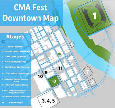 Cma Fest Stage Locations In Downtown Nashville