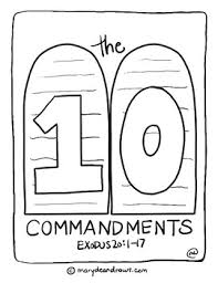 The 10 Commandments Set Of 13 Hand Drawn Bible Verse Coloring Pages